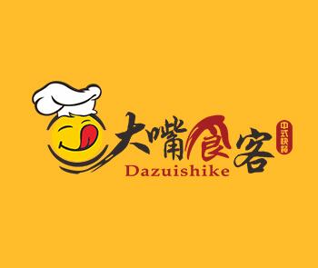 大嘴食客快餐品牌标志设计