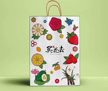 买花去手提袋设计