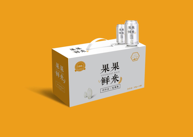 果果大米包裝設計